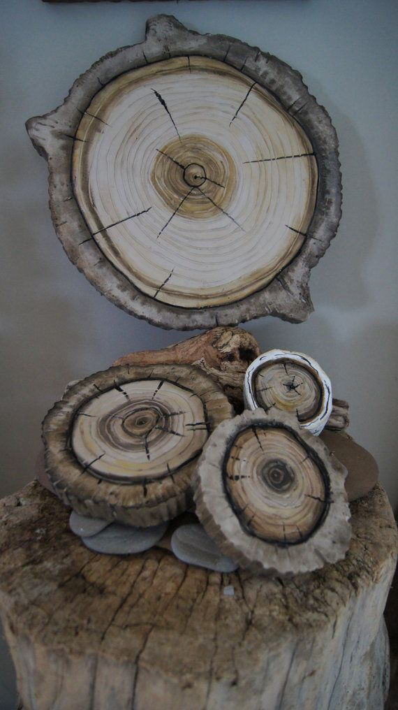 Woodland Wall Art 3D  Natural Wood Stump Wall Hanging by solamar7, $175.00: Trees Rings, Beautiful Natural, Rings Wall, 3D Natural, Natural Wood, Natural Lovers, Artistic Environments, Artists Environment, Plaques Trees