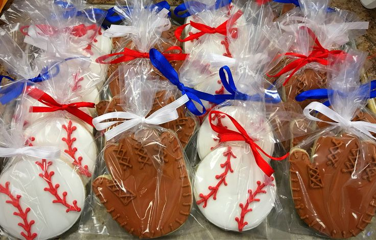 A personal favorite from my Etsy shop https://www.etsy.com/listing/531528854/baseball-glove-decorated-sugar-cookies
