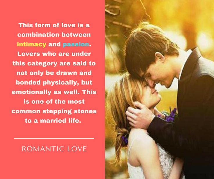 Image:  Infatuated Love -- passion is present, both liking and commitment is absent