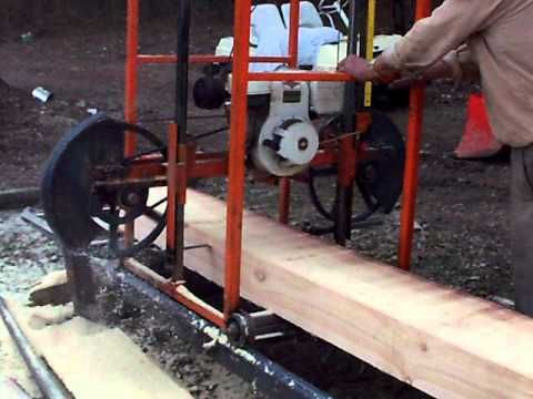 Homemade Sawmill- Upclose video - YouTube | 2015 ... - photo#8