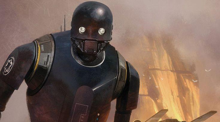 Актер Алан Тьюдик озвучивает и по-своему «играет» роль робота K-2S0. Еще он исполнил в «Изгое-один» небольшую эпизодическую роль пилота, но она в итоге была вырезана из ленты.  На фото: робот K-2S0, имперский дроид, перешедший на сторону повстанцев.
