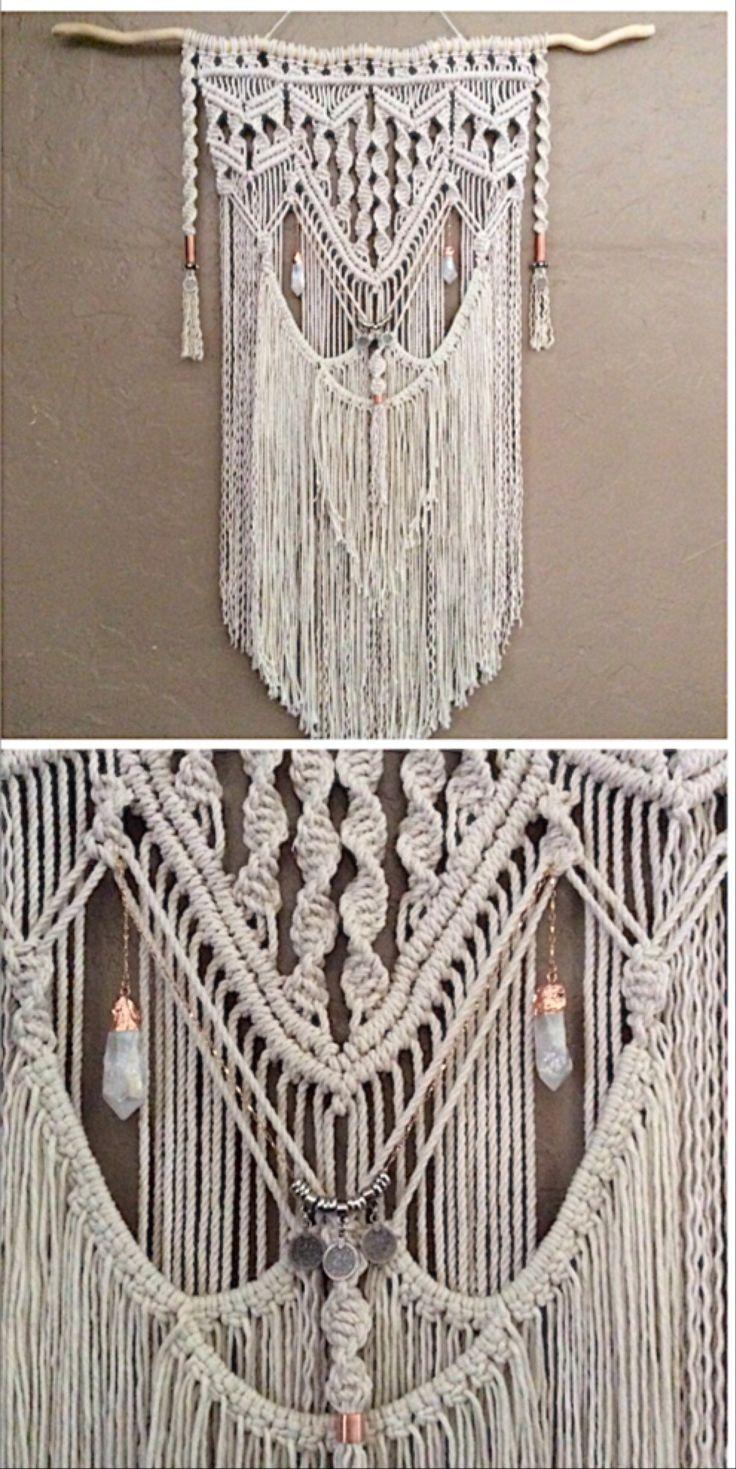 598 best macrame weavings images on pinterest macrame on macrame wall hanging id=37080