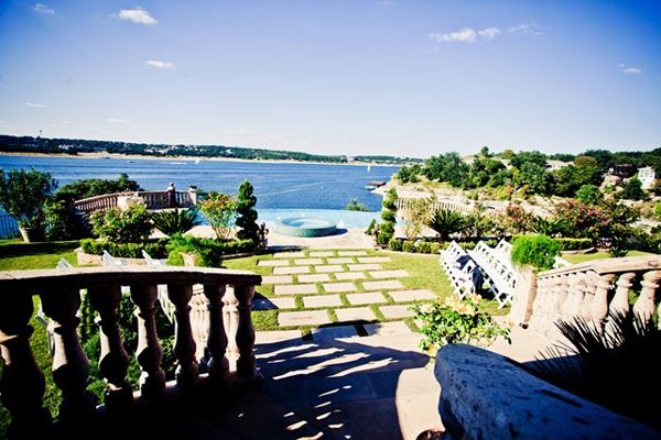 what do you think?  Austin, Texas    Wedding Date: October 10, 2010    Number of Guests: 70    Wedding Cost: $4,700    Wedding Ceremony Location: We were married in an outdoor ceremony at Villa de Vistas, a stunning mansion overlooking Lake Travis in Lakeway, Austin, TX. The grounds had two levels, and the ceremony was held on the upper level in the gardens next to a beautiful infinity pool with the lake as a backdrop.