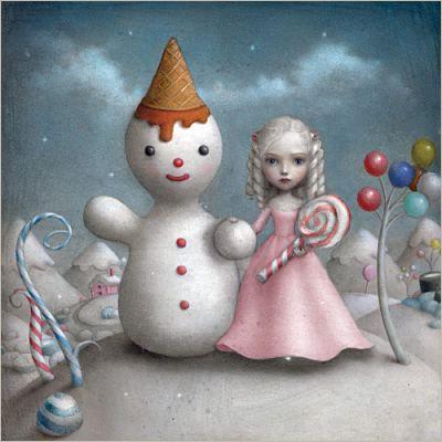 Papierdier - Nicoletta Ceccoli - Snow man - Alice in Wonderland