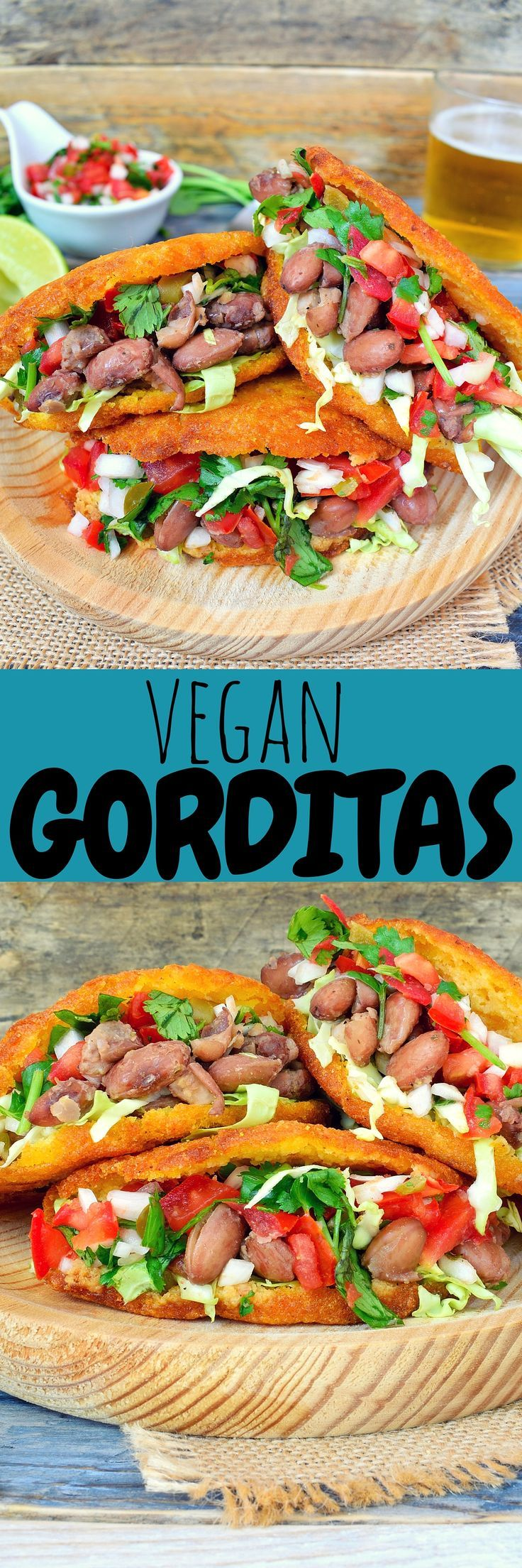 The best of Mexican street food, vegan gorditas are fried cornbread pockets stuffed with beans, pico de gallo and avocado. Great for a snack, lunch or dinner!