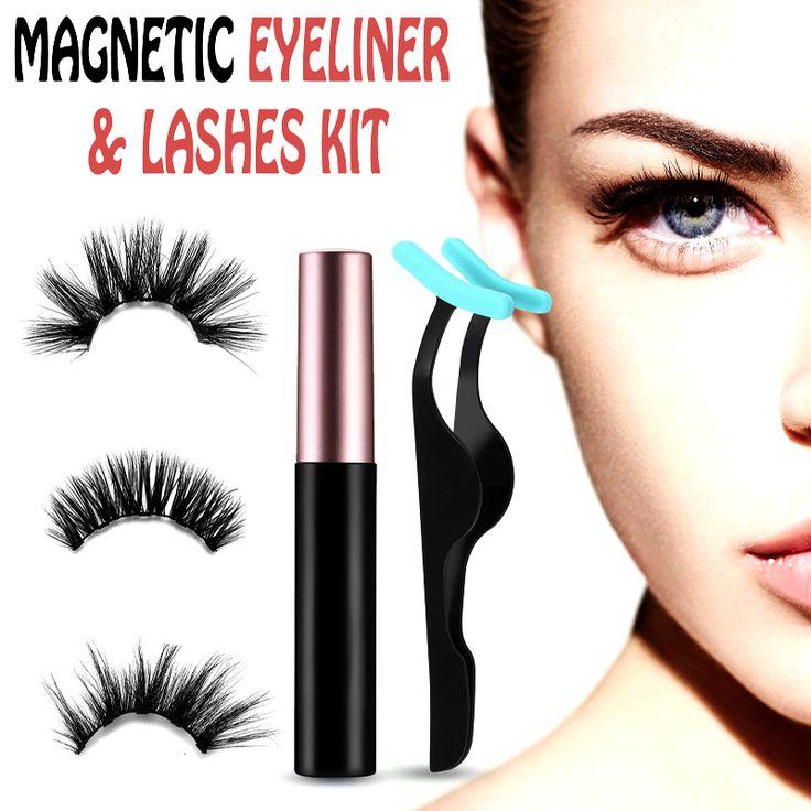 Eyeliner & Lashes Kit [Video] Lashes, Eyelashes