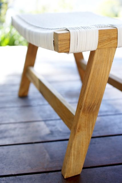 Introducing our gorgeous outdoor Barwon footstool. Perfect for lazy summer afternoons. ($249)  #outdoorfurniture #outdoorfurnitureideas #outdoordesign #outdoordesignideas #luxuryoutdoorfurniture