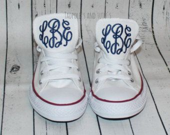 NEW COLORS Sassy Monogrammed Converse All by LilDarlingsDesigns