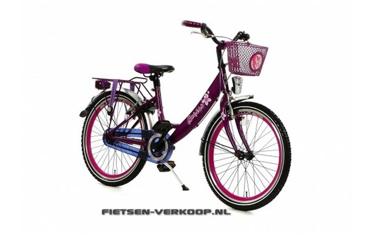 Meisjesfiets Angel Paars 22 Inch | bestel gemakkelijk online op Fietsen-verkoop.nl
