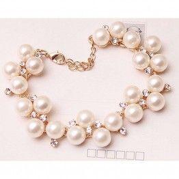Simulated Pearl Bracelet