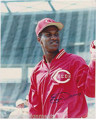 ERIC DAVIS MLB REDS BASEBALL PLAYER VINTAGE AUTOGRAPH SIGNED PHOTO