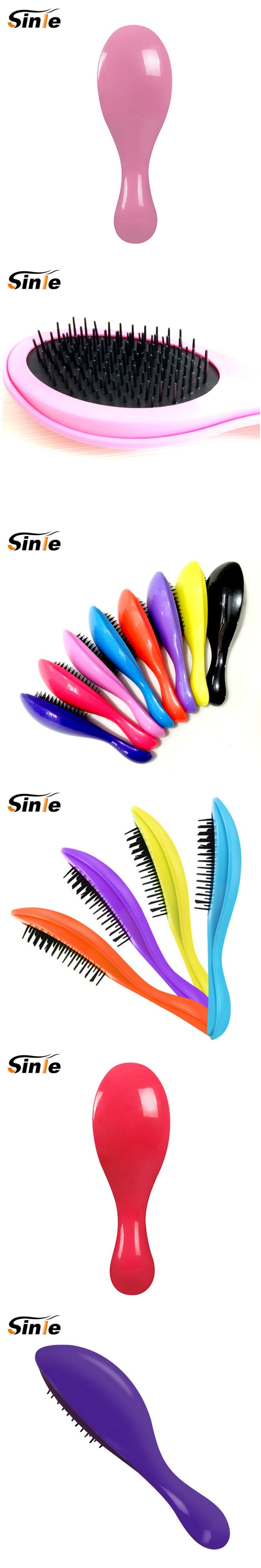 Creative spoon style of hair brush magic Handle Tangle Detangling Comb Shower Hair Brush Salon Styling Tamer Tool Hot Selling