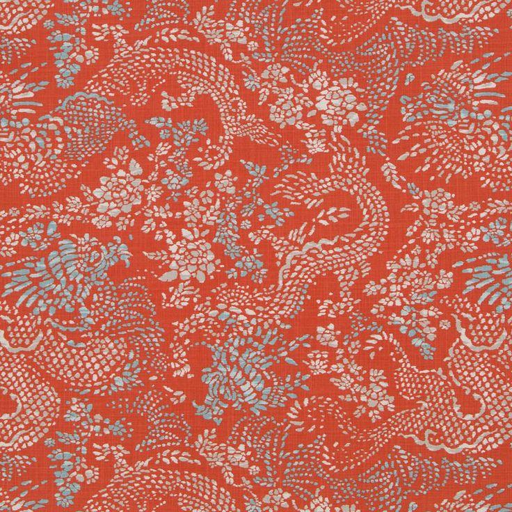 Amapura, Persimmon Fabric – Tonic Living