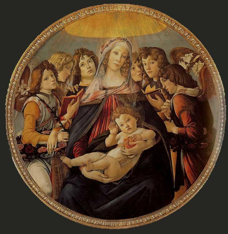 "Botticelli ""Madonna with pomegranate"""