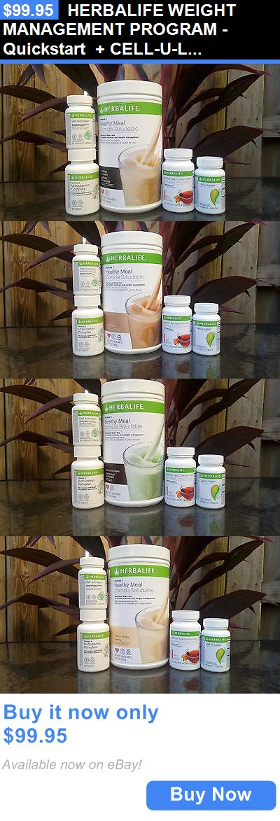 Meal Replacement Drinks: Herbalife Weight Management Program - Quickstart + Cell-U-Loss BUY IT NOW ONLY: $99.95