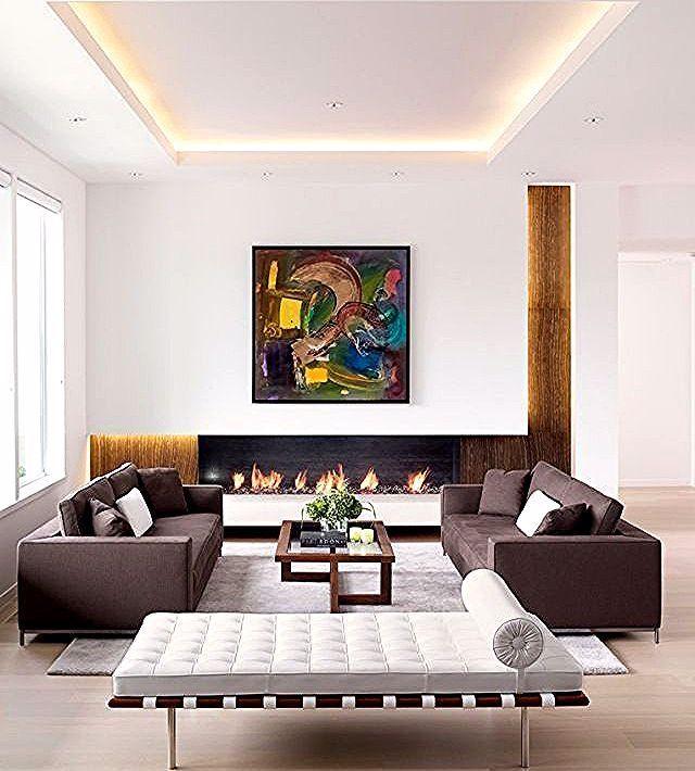 Indirekte Beleuchtung Wohnzimmer Decke Modern Eingerichtet