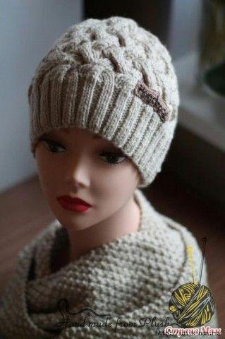 Вязание плетенкой шапки