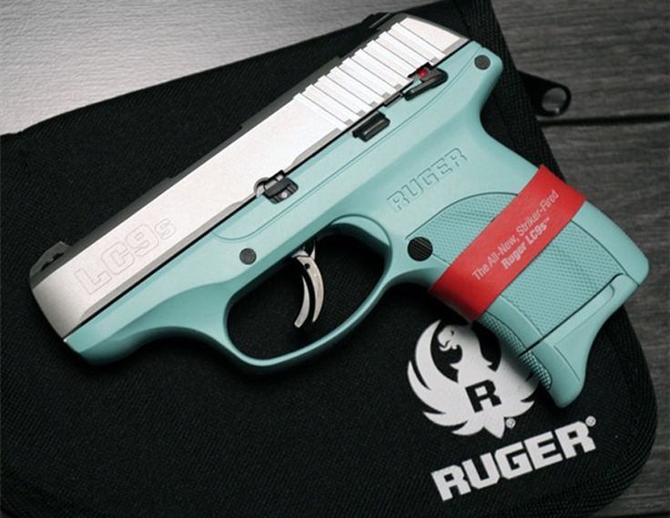 Ruger LC9s with Tiffany blue frame.