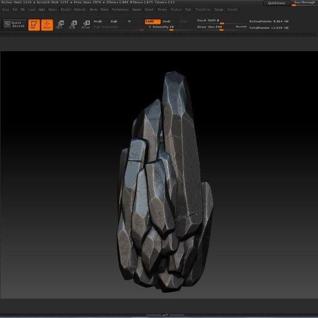 Que paja es hacer piedras -.- #rock #piedra #zbrush