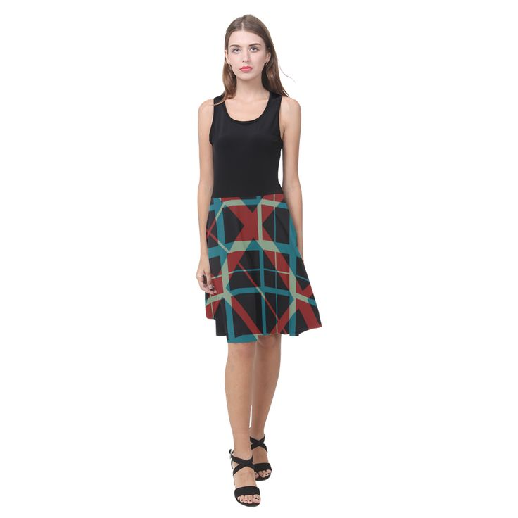Plaid Pattern Dress by Scar Design #dress #plaiddress #plaid #giftsforher #gifts #fashion #womenfashion #buydresses #hipster #artsadd #scardesign #hipsterdress