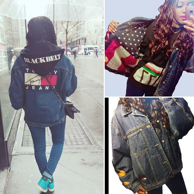 Got my hands on this amazing vintage find! やっと手に入れたこのヴィンテージトミーヒルフィガージャケット ootd #style #fashionblogger #fashion #outfit #hoodie #shibuyatshop #vintage #shibuya #girl #braids #curlyhair #jeans #sneakers #nike #コーディネート #コーデ #スタイル #ファッション #nyc #photooftheday #instalike #instastyle #instadaily #トミーヒルフィガー #ヴィンテージ #90sfashion #vintageeverything #vintagetommyhilfiger #vintagefashion