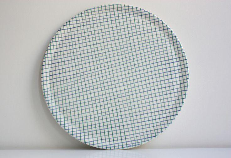 Karo Tortenplatte Pizzateller Platte SFM Juliet von wohnraumformer auf DaWanda.com