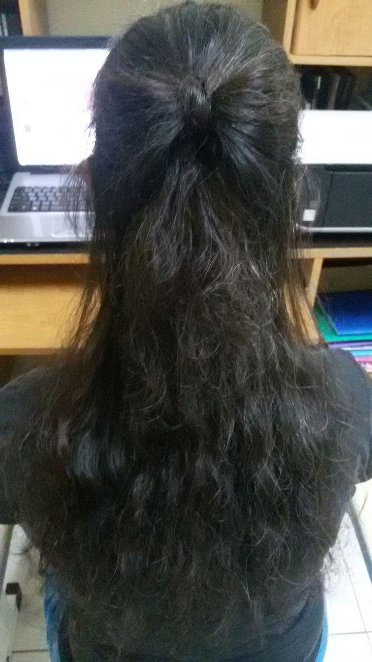 Hairbow half updo