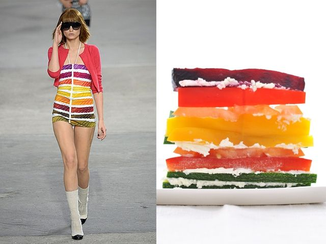 Chanel ss 2014 / Vegetable crudites with goat cheese and vinaigrette
