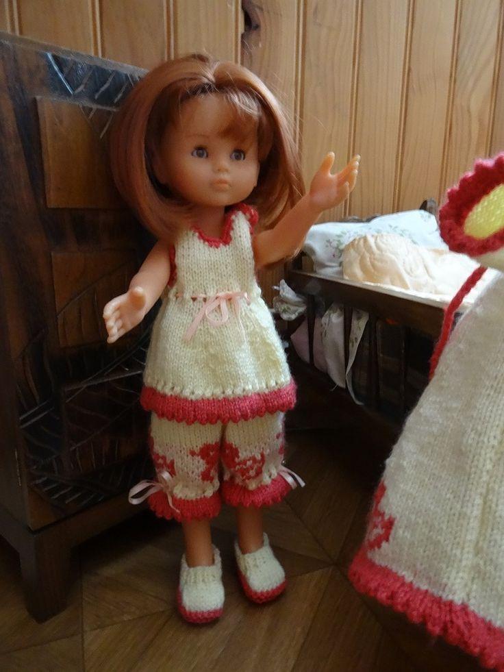 Fiche gratuite vêtements de poupée N° 185: pyjama Chéries de Corolle - Le blog de La malle ô trésor de Sylvie