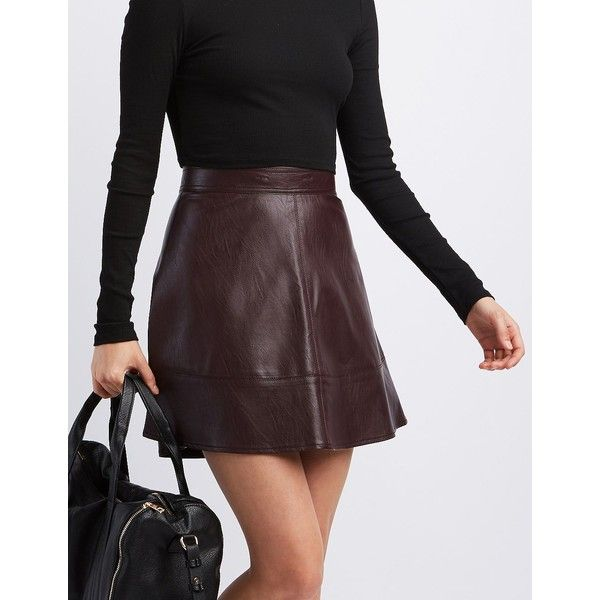 25 best ideas about leather skater skirts on