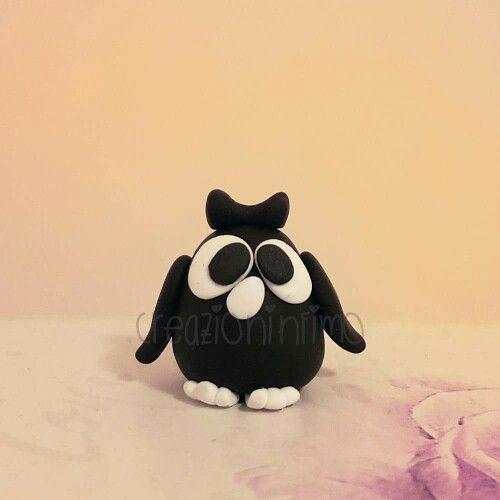 #owl #gufo #animal #aninali #uccello #bird #creazioni #handmade #fattoamano #fimo