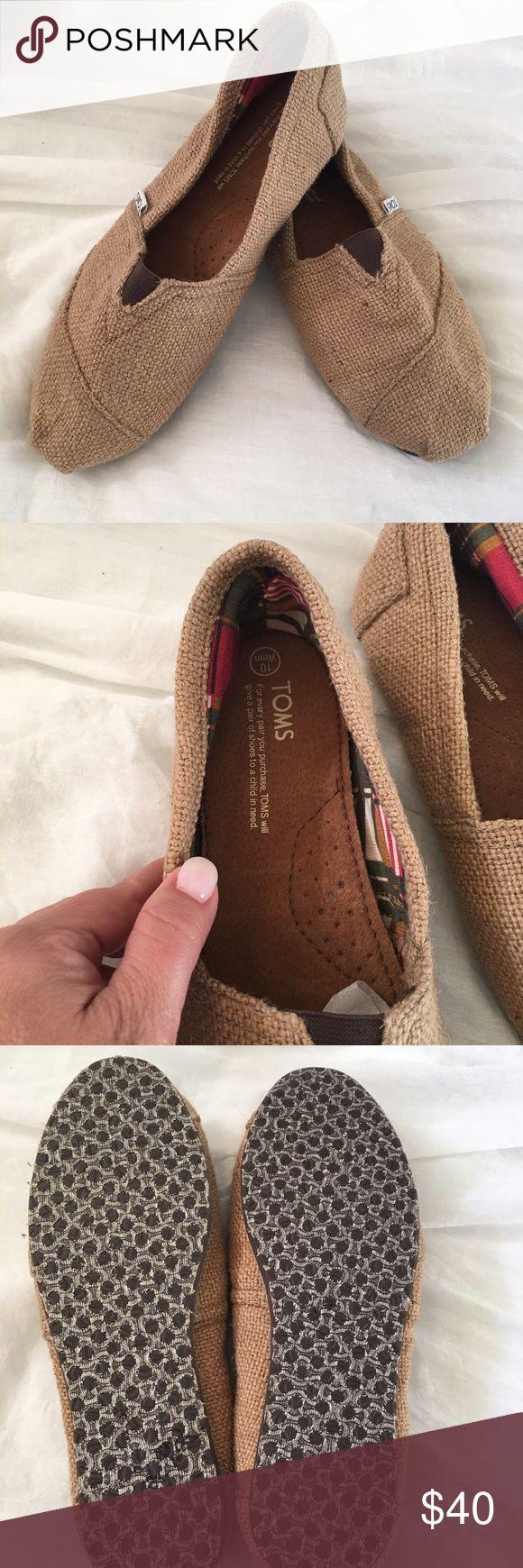 Burlap TOMS  for women size 10 Natural Burlap TOMS for women size 10. NWOT TOMS Shoes