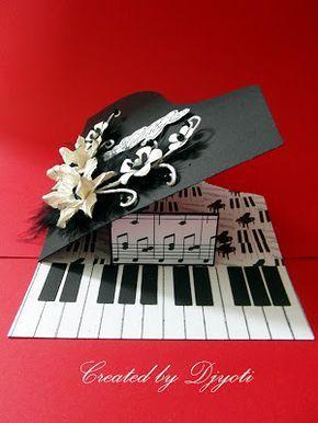 die besten 25 geburtstagskarte basteln klavier ideen auf. Black Bedroom Furniture Sets. Home Design Ideas