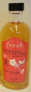 Fresh Memoirs of a Geisha Bath with Sake (3.4 oz) by Fresh. $27.99. Fresh Memoirs of a Geisha Bath with Sake. Size:  (3.4 fl. oz.) / 100 ml.. DISCONTINUED / No Longer Available in Stores. Fresh Bath with Sake detoxifies, softens and soothes the skin. Condition:  Brand New.  Unboxed.. Fresh Memoirs of a Geisha BATH WITH SAKE detoxifies, softens and soothes the skin.  Geisha originated many of the legendary beauty secrets.  Sake was used by Geisha as an all-purpose tool to d...