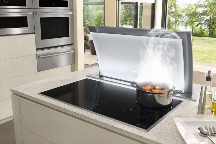 Jenn Air S 36 Induction Cooktop Paired With A Downdraft