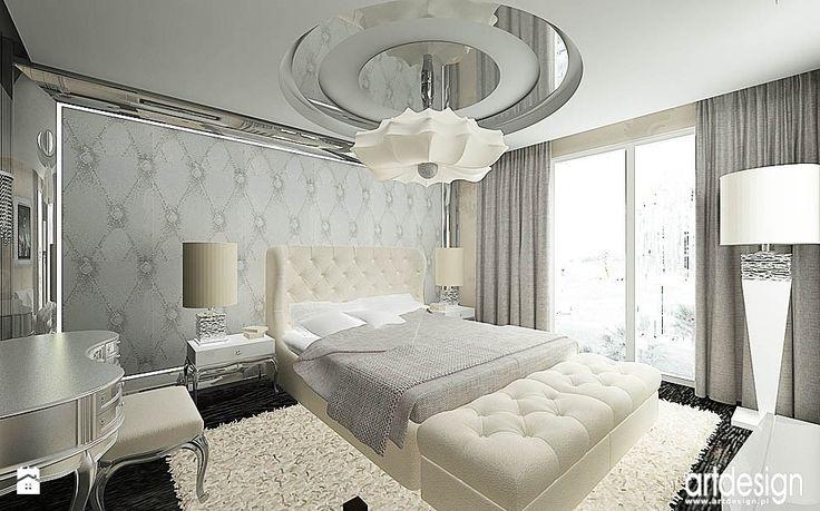 projekt eleganckiej sypialni - Sypialnia - Styl Glamour - ARTDESIGN architektura wnętrz