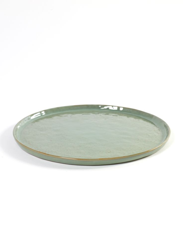 Bord lichtgroen. Dinerbord en dessert/ontbijtbord. Keramiek  serie Pure van Pascale Naessens.