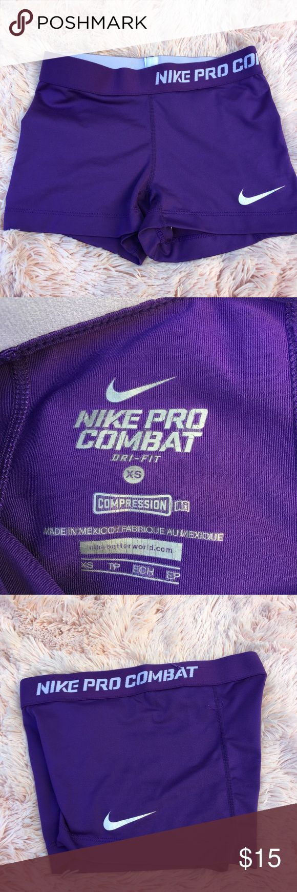 Nike pro combat compression shorts Some cracking on the logo other than that still good condition size xs Nike Shorts