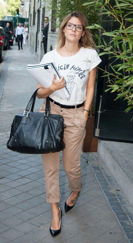Amaia Salamanca con un look hipster.