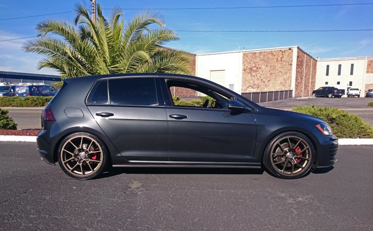 Mk7 GTI - H&R Sport Springs Neuspeed RSe10 Bronze wheels 19x8 et45 ECS 7mm spacer in rear