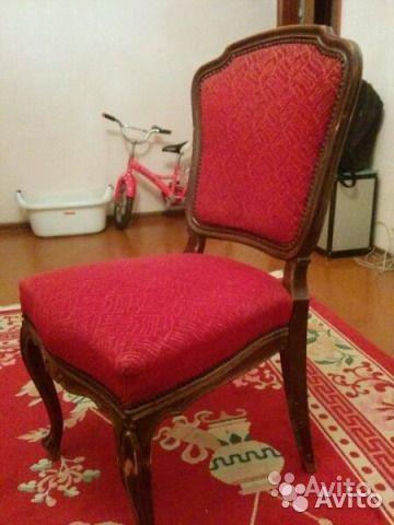 Антикварные стулья, 2 штуки. Дерево - орех Производство Венгрия, 1961г.