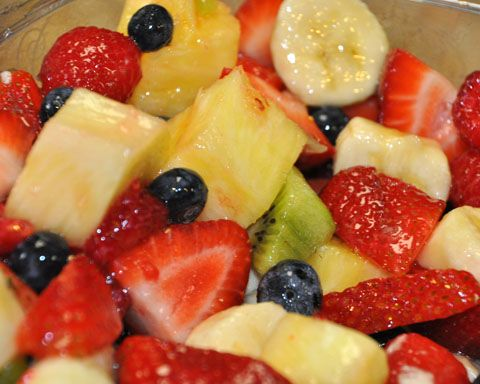 Fruit Salad....Yummy, Yummy  (yes the wiggles song came to mind)