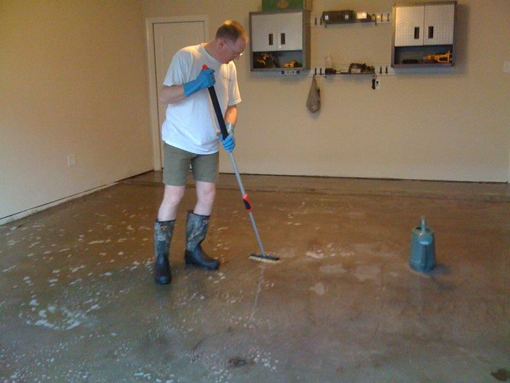 Concrete garages garage and cleaning on pinterest for Garage floor maintenance