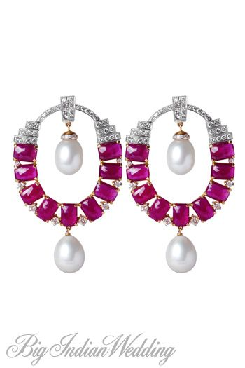 Neety Singh ruby earrings