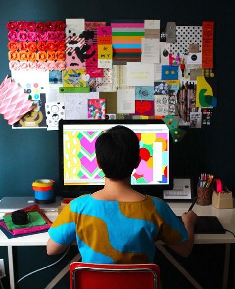 Erin Jang's work space.