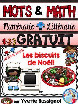 GRATUIT! MOTS ET MATHS (Les biscuits de Noël) French Christmas