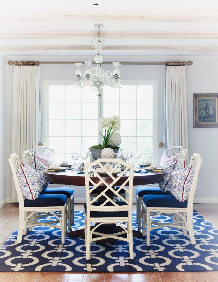 Blue Dining Room Entrancing Decorating Inspiration