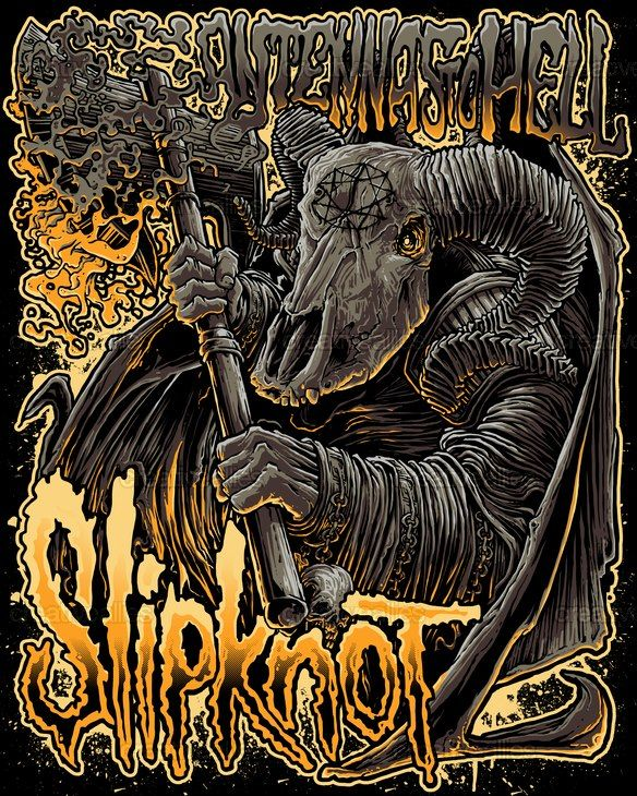 "Slipknot Poster Design Contest Submission By ""Diegoflower"""