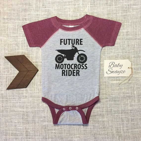 Future Motocross Rider  Cute Funny Dirt Bike Racing Baby One