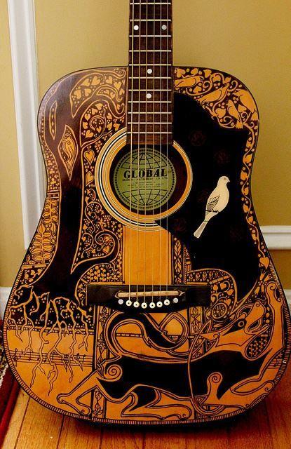 Guitar Designs Art : Best images about painted guitars on pinterest